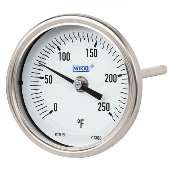 termómetro bimetálico